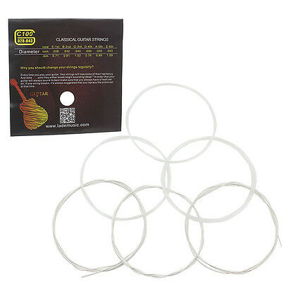 Classical Guitar String Clear Nylon Strings Alice Brand A106-H 6 String Per Set