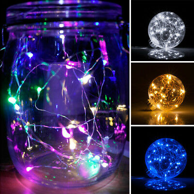 20 Led String 4 Pack Fairy Micro Lights 1M LEDs Silver Wire Coin Battery Powered