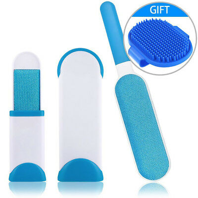 Double Sided Pet Fur Wizard Self Cleaning Lint Brush for Cat Dog Hair Removal