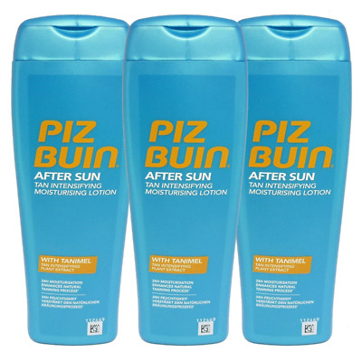 Piz Buin After Sun Tan Intensifying Moisturising Lotion - Sonnen Pflege 3x200ml