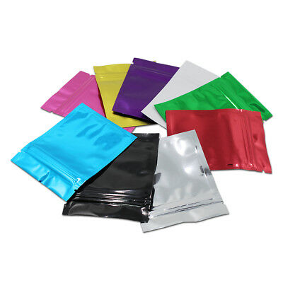 6x8cm Colorful Aluminum Foil Resealable Zip Lock Bags Mylar Food Storage Package