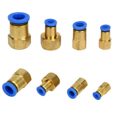 Pneumatic Female Thread BSP Stud to Push In Fitting Connector for Air Water