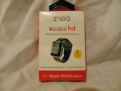 New ZAGG Invisible Shield Full Screen Protector Apple Watch 42 MM Advanced Clar