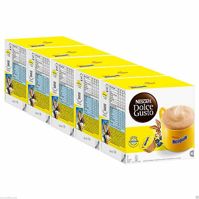 Nescafé Dolce Gusto Nesquik (80 capsules) x 5 Boxes Hot chocolate( 80 Servings)
