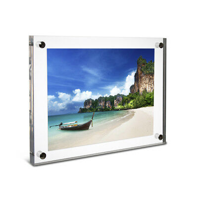 Deluxe Clear Acrylic Wall Mounted Photo Frame A4   Flush Mounted Frame -  UK