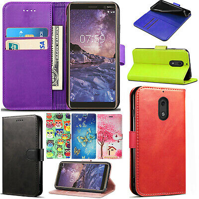 For Nokia 3.1 Wallet Leather Case Stand Card Slot Magnetic Flip Cover