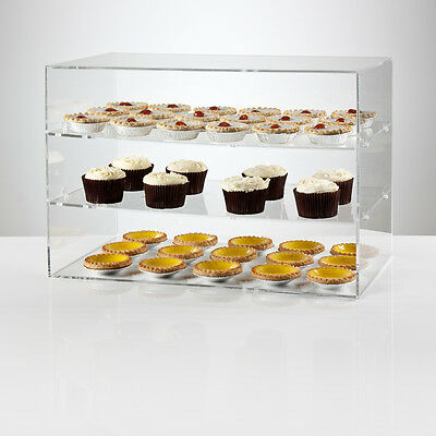 Clear Acrylic Display Unit 550mm Wide | Food Display | Counter Display | Storage