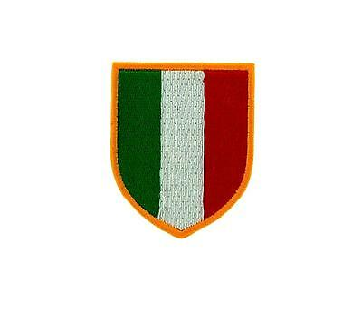 Patch ecusson brode thermocollant drapeau italie italien italia scudetto foot