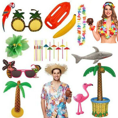 Hawaiian Tropical Party Luau Accessories Fancy Dress Summer Holiday Beach Lot