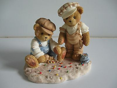 2001 Vince & Connor Shooting for Keeps Retired Cherished Teddies