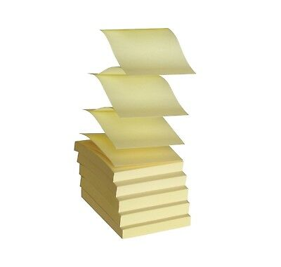 School Smart Pop-Up Self-Stick Adhesive Note 3 X 3 in Yellow 100 Sheets Pack 12