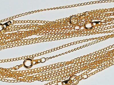 1pc beautiful Gold plated chain Necklaces w/clasp Findings *NEW 16""