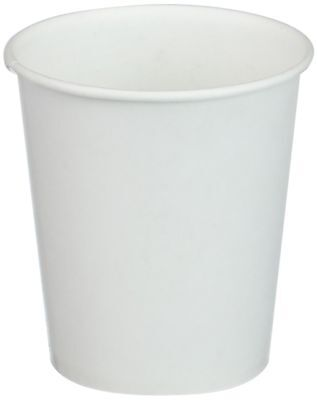 White Paper Water Cups, 3 oz, 100/Pack Each 1