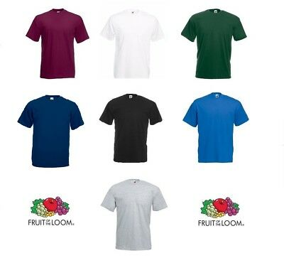2 4 6 9 10 Pack Fruit Of The Loom Men Valueweight 100% Cotton Plain T-Shirt lot