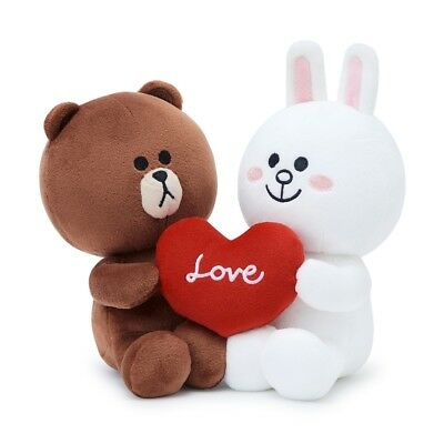 [LINE FRIENDS] Season 5 BROWN & CONY Love Couple Sitting doll Plush 20cm Set