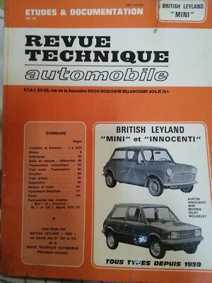 Revue technique BRITISH LEYLAND INNOCENTI MINI MORRIS RILEY WOSELEY RTA CIP 3432