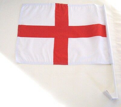 England 2 pack of car flags