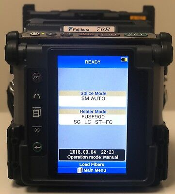 Fujikura 70R Fusion Splicer Looks Brand New (86 Arcs!) North American License