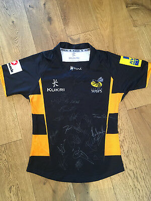 WASPS signed rugby shirt - 100% Genuine