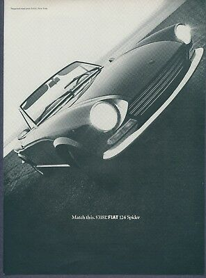 Vintage Magazine Ad Fiat 124 Spider May 1968