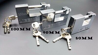 HEAVY DUTY / ARMOURED SHUTTER PADLOCKS ULTRA SECURE Small/Large Security Lock