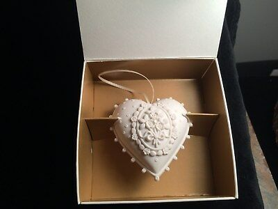 "1998 Margaret Furlong ""Blossoming Love"" heart Ornament MIB, orig box"