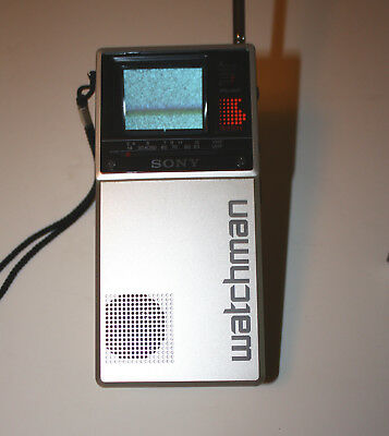 Vintage Sony Watchman FD-20A Works with Soft Case and Antenna