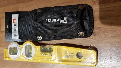 Stabila 16670/0 25 Cm Torpedo Type 81 SV REM W360 Spirit Level With pouch