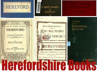 49+ HEREFORDSHIRE Books HEREFORD HISTORY Topography Genealogy Parish registers