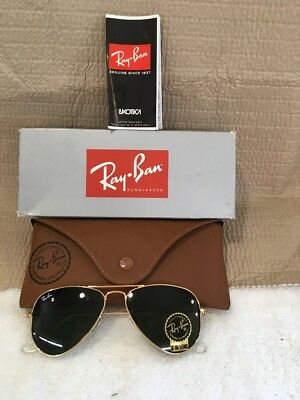 d4a815cfe6 Ray Ban 3044 New Small Aviator Gold L0207 52mm Petite Authentic Sunglasses