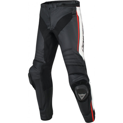 Dainese Misano Premium Leather Motorcycle Jeans with Knee Sliders
