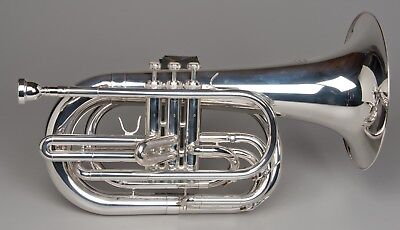 TEMPEST AGILITY WINDS Bb MARCHING BARITONE SILVER PLATED EXACT PITCH BIG SOUND