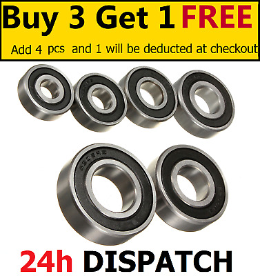 Bearings 6300 - 6315 2RS - Rubber Sealed