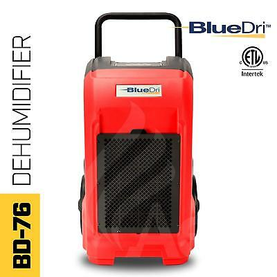 BlueDri BD-76-RED 76-Pint AHAM High Performance Commercial Dehumidifier, Red