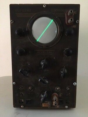 Vintage 1938 Supreme Oscilloscope Model 546 Repair/Parts  Light Up