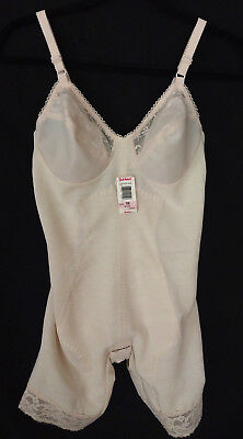 Vintage Subtract Body Shaper Wire Free Lace Beige Size 36B Style 2547 NWT ILGWU