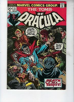 Tomb Of Dracula 13, Fine+, Third Appearance Of Blade, Full Cover Gloss