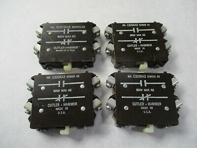 Lot of 2 Cutler Hammer C320KA3 Auxiliary Contact (1 NO and 1 NC)