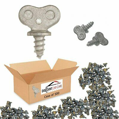 Dealer License Plate Thumb Screws in Bulk - 500 Case (No Screw Driver Needed)