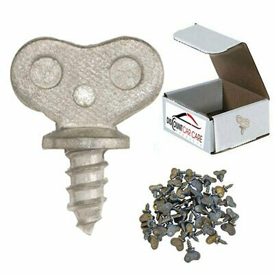 Dealer License Plate Thumb Screws - 50 Each (No Screw Driver Needed)
