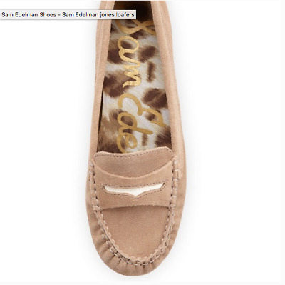 5109a654c93 SAM EDELMAN TAN Suede Driving Penny Loafers Shoes Womens Size 10M ...