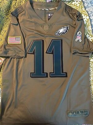 pick up 8e31d a7864 salute to service wentz jersey
