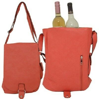 Coral Insulated Double  Wine Bottle Carrier (Thermal Insulation)