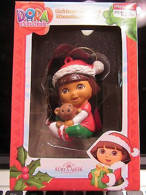 Dora the Explorer Christmas Ornament NEW IN BOX Teddy Bear Kurt S Adler 2011