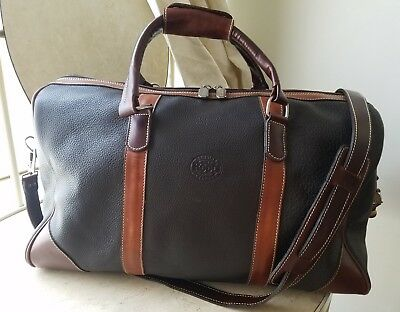 82bbf29b6c ROOTS Banff leather travel duffle weekend bag two-tone horween trim Nice! 👌