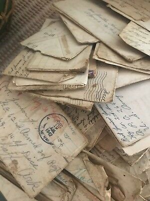 HUGE Collection of Aprx. 150 WW2 Soldier Love Letters Personal Correspondence