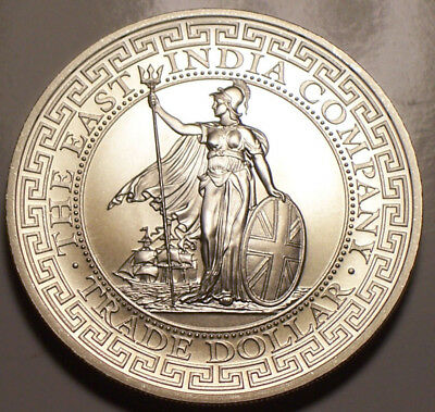 St. Helena, 2018 Silver British Trade Dollar. One Ounce Silver.