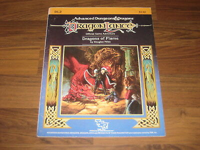 AD&D 1st Edition Dragonlance DL2 Dragons of Flame 1984 TSR 9132 Adventure