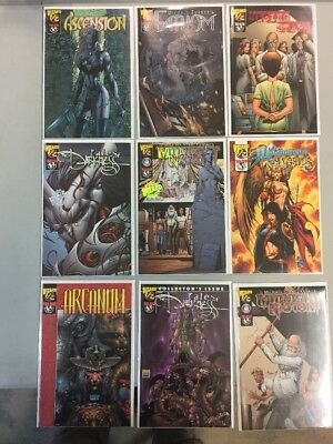Lot Of 9 Wizard 1/2 Comic Books 2 Special Ones Tales Of Darkness Midnight Nation