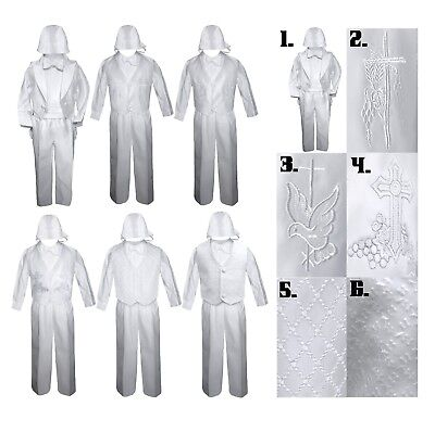 Baby Toddler Boy Baptism Christening Vest Tuxedo Suit Outfit Long Sleeve Sm-4T